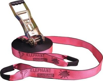 Elephant Slacklines Addict Flash Line Slackline, 25m X 50mm Rosa